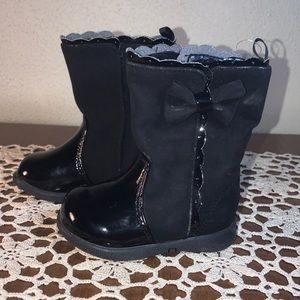 George Black Baby Girl Boots Size 3